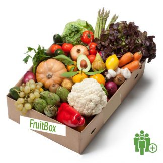Caja fruta y verdura frescas grande