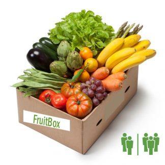 Caja fruta y verdura frescas mediana