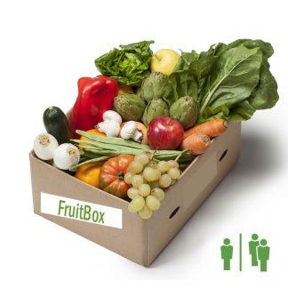 Caja fruta y verdura frescas pequeña